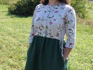 """Фотосессия одного платья.Льняное платье """"От Катюши"""". Ярмарка Мастеров - ручная работа, handmade."""