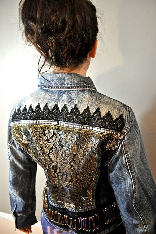 Многообразный декор джинсовых курток: 50 интересных вариантов, фото № 21