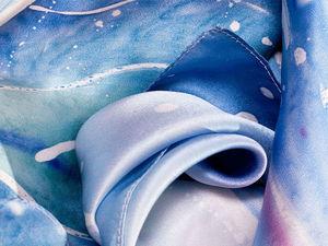 Скидки на атласные шейные платки. Ярмарка Мастеров - ручная работа, handmade.