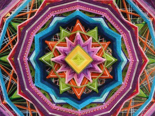 Плетение индейской мандалы | Ярмарка Мастеров - ручная работа, handmade