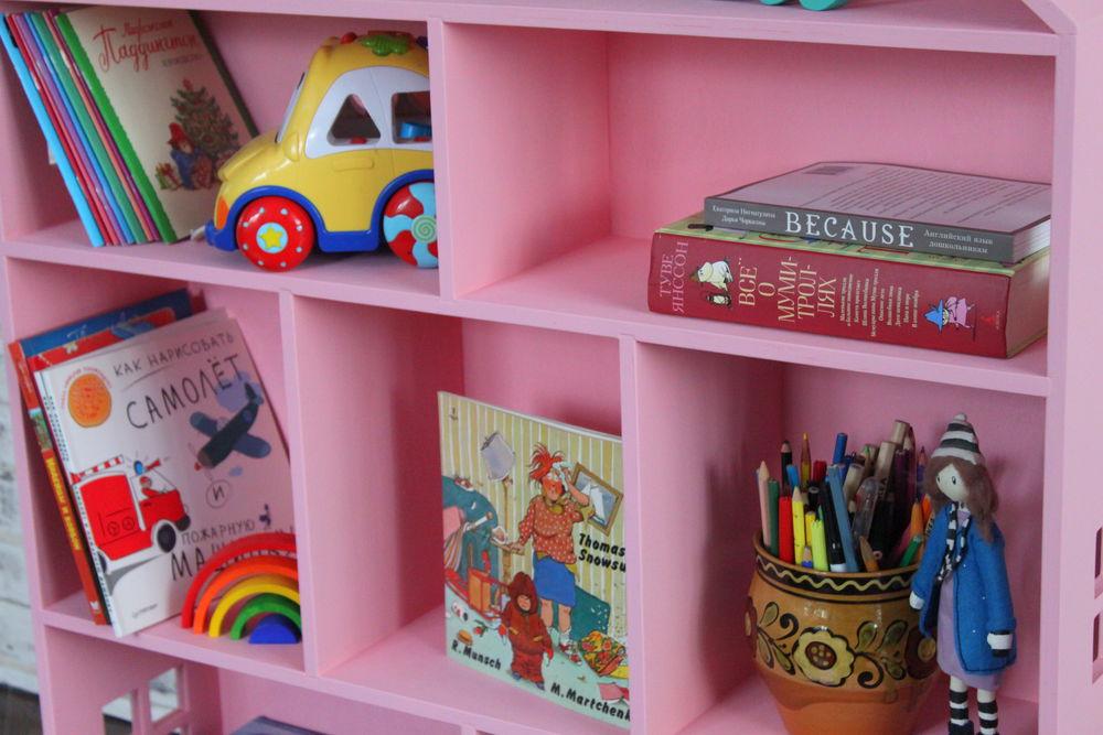 домики, розовый домик