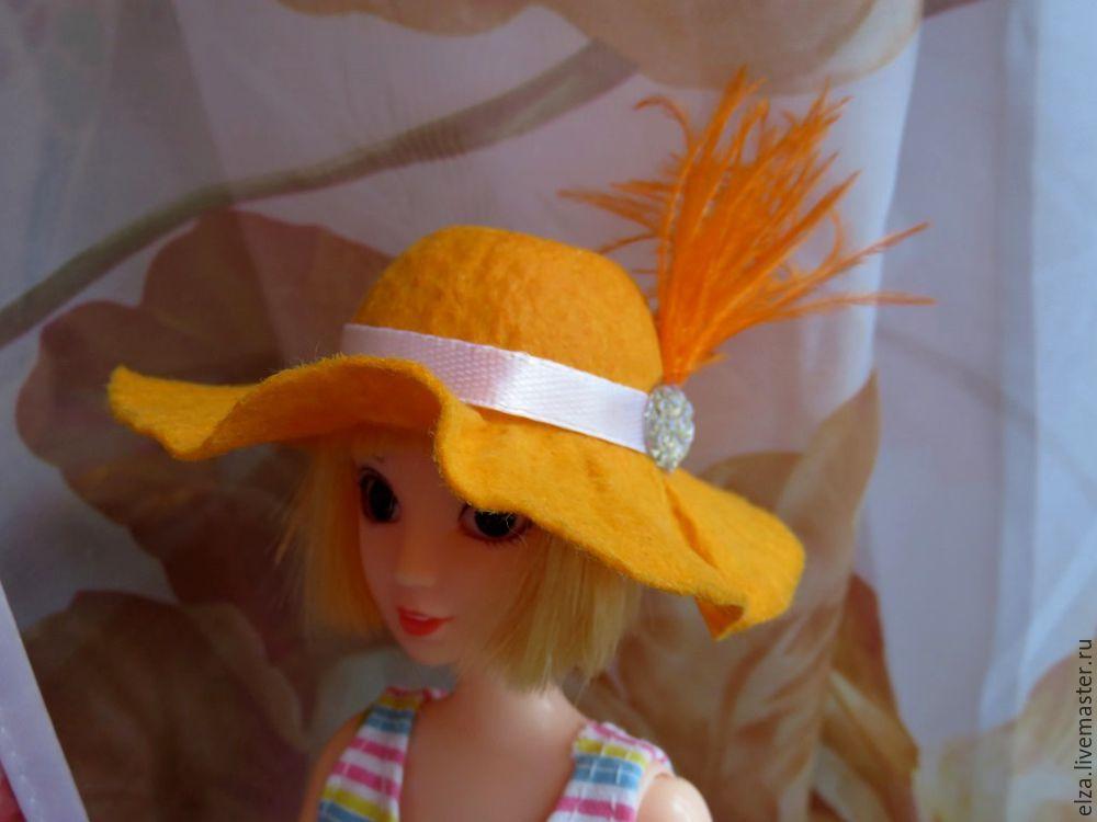 для куклы, шляпка для куклы
