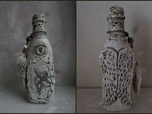 Декорируем бутылку «Белый ангел». Видео мастер-класс. Ярмарка Мастеров - ручная работа, handmade.