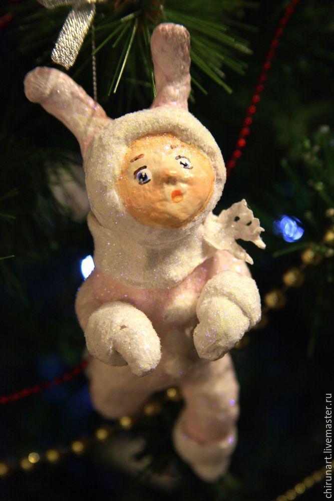игрушки на елку из ваты фото выразил