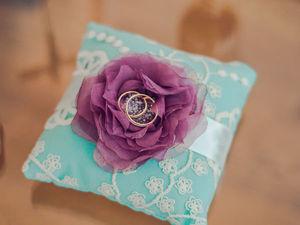 Подушечка для колец в цветах свадьбы. Ярмарка Мастеров - ручная работа, handmade.