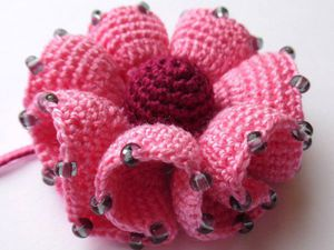 Вяжем цветок с воланами крючком | Ярмарка Мастеров - ручная работа, handmade