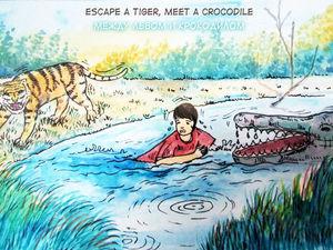 Между львом и крокодилом. 17 поговорок тигриного королевства. Ярмарка Мастеров - ручная работа, handmade.