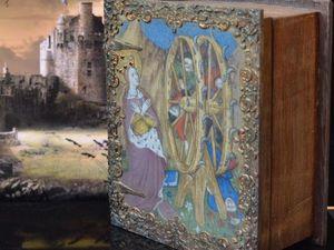 "Шкатулка книга ""St Catherine"",Шкатулка для таро,Шкатулка в виде книги. Ярмарка Мастеров - ручная работа, handmade."