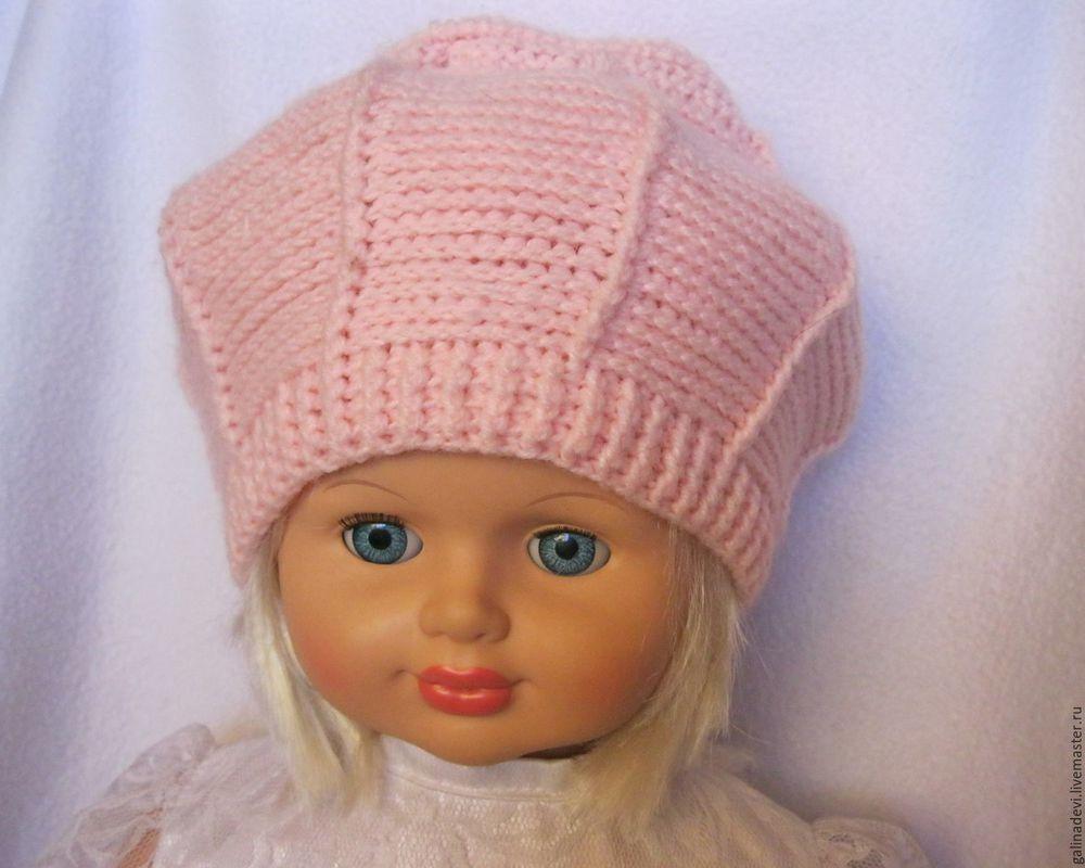 шапочка крючком, весенняя шапочка, шапка модная
