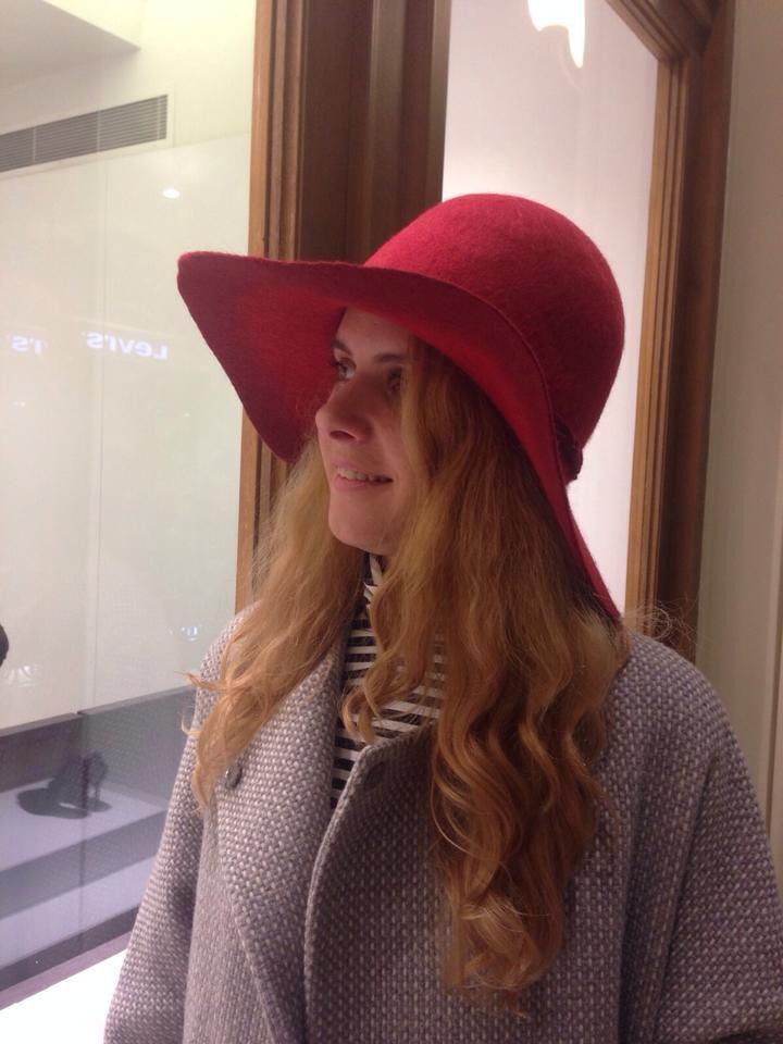 МК Натальи Сафоновой  «Валяная шляпа с  полями из кардочеса», фото № 5