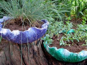 Простой вазон из цемента на скорую руку. Ярмарка Мастеров - ручная работа, handmade.