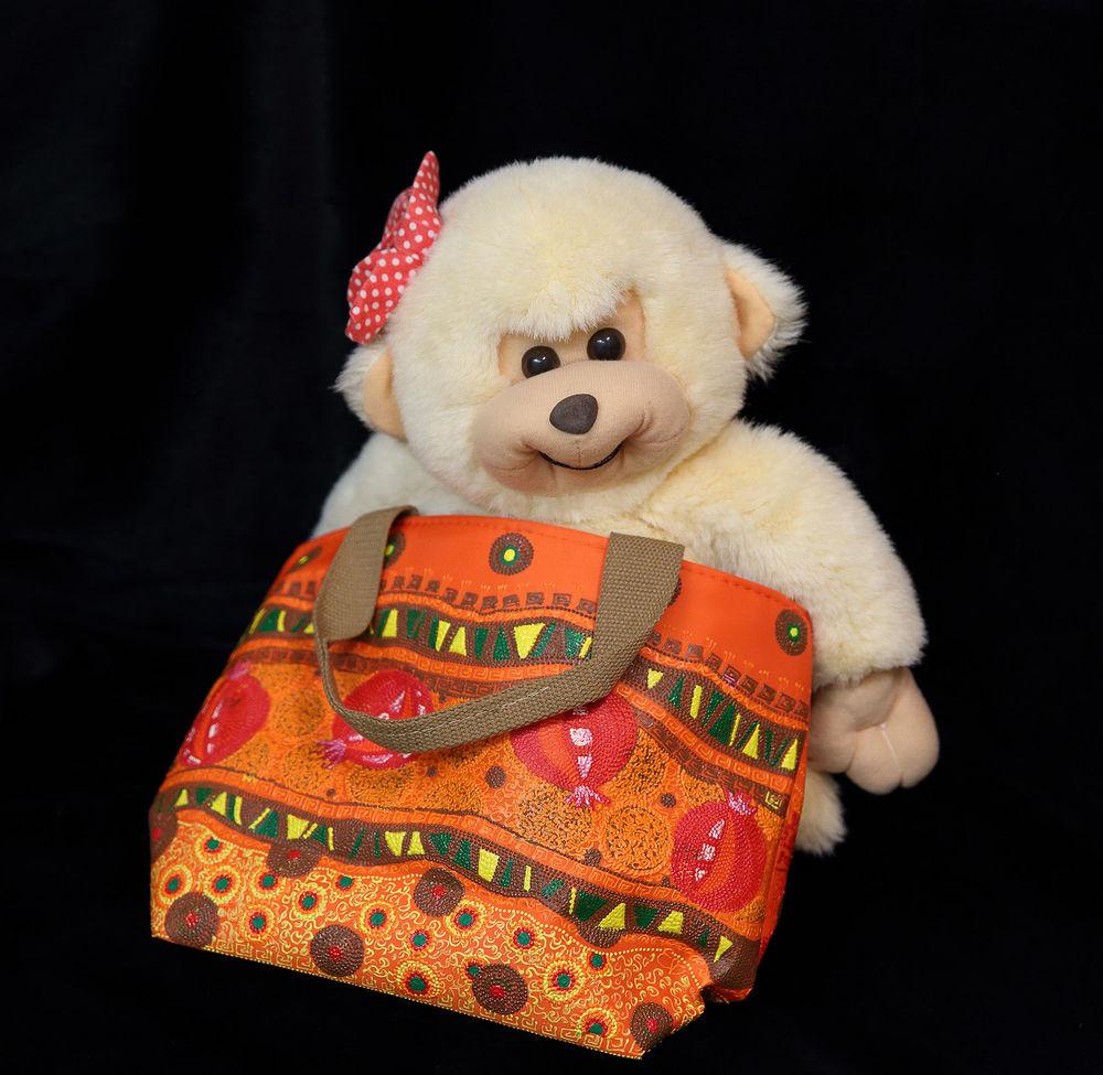 оранжевая сумка, пляжная сумка