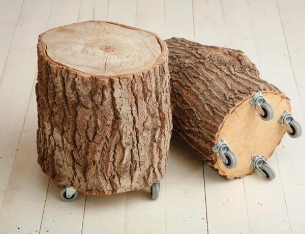 Поделки из деревянных пеньков