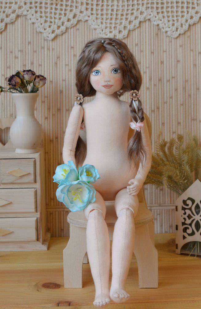 мастер класс, кукла текстильная, парик из локонов козы, создание куклы