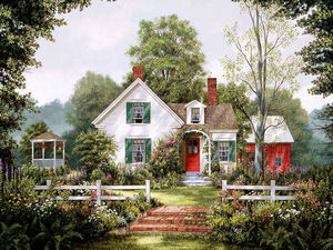 Уютные домики и не только на полотнах американского художника Fred Swan. Ярмарка Мастеров - ручная работа, handmade.