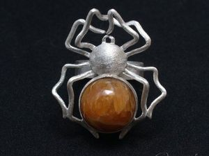 Кольцо с симбирцитом Паук (видео). Ярмарка Мастеров - ручная работа, handmade.