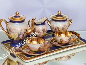 РЕДКОСТЬ Сервиз чайник сахарница чашка поднос золото 5   Ярмарка Мастеров - ручная работа, handmade