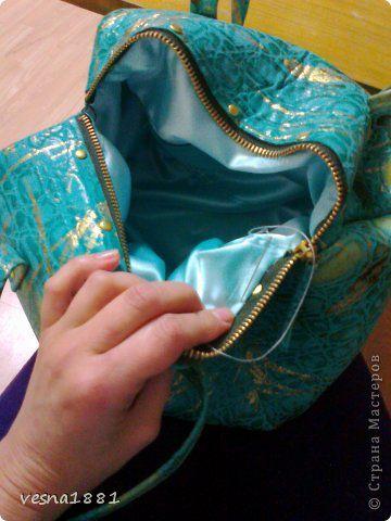Гардероб Мастер-класс Шитьё Пошив кожаной сумки своими руками Кожа фото 20
