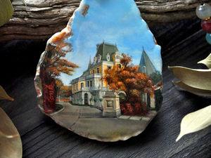 "Анонс! Кулон ""Массандровский дворец"" лаковая миниатюра. Ярмарка Мастеров - ручная работа, handmade."
