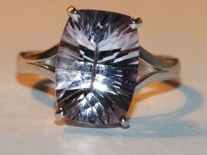 Кольцо серьги с аметистом лавандовым серебро 925%. Ярмарка Мастеров - ручная работа, handmade.