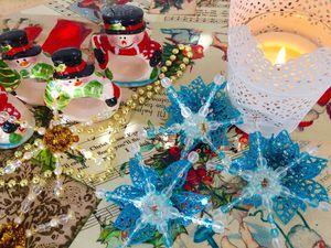 Как сделать снежинку из бусин и синельной проволоки: видео мастер-класс. Ярмарка Мастеров - ручная работа, handmade.