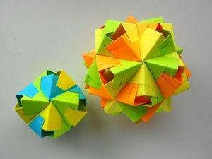 Собираем октаэдр многогранник из бумаги Kusudama by Mitsunobu Sonobe. Ярмарка Мастеров - ручная работа, handmade.