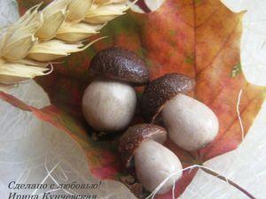 Миниатюрные грибочки «Боровички» из полимерной глины. Ярмарка Мастеров - ручная работа, handmade.