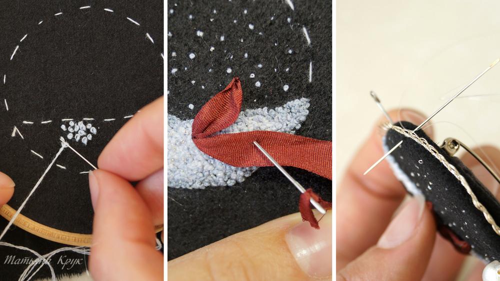 мастер класс вышивка, вышитая брошь мк, брошь цветок, изделие ручной работы, брошь своими руками, текстильная брошь вышивка, хитрости и советы