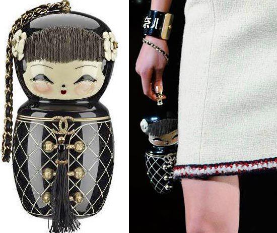 оригинальная сумочка в виде 'японской матрешки' из осенне-зимней 'китайской' коллекции pre-fall 2010 от Chanel