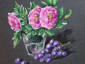 Рисуем «Шиповник» масляной пастелью. Ярмарка Мастеров - ручная работа, handmade.