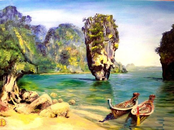 Мастер класс по живописи Тайланд | Ярмарка Мастеров - ручная работа, handmade