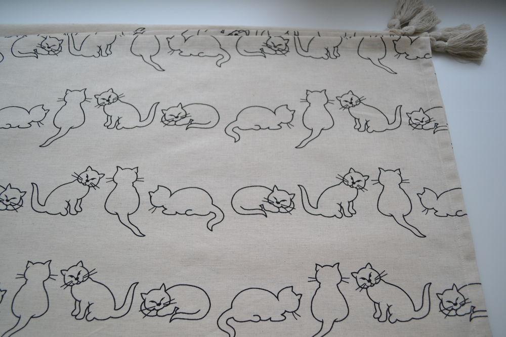 лен кошки, подушки кошки
