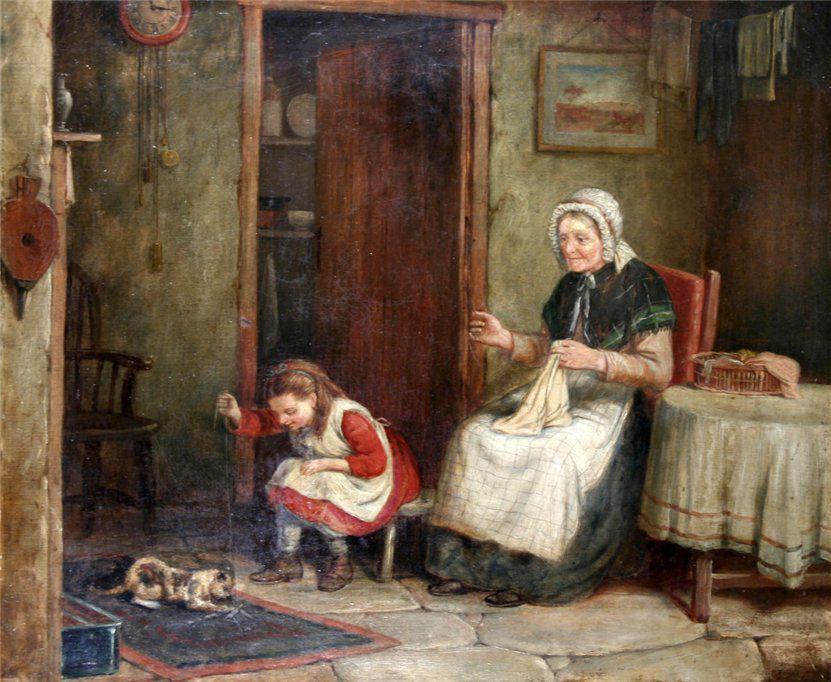 Когда есть чем заняться — стареть некогда: душевные картины о бабушках-рукодельницах, фото № 52