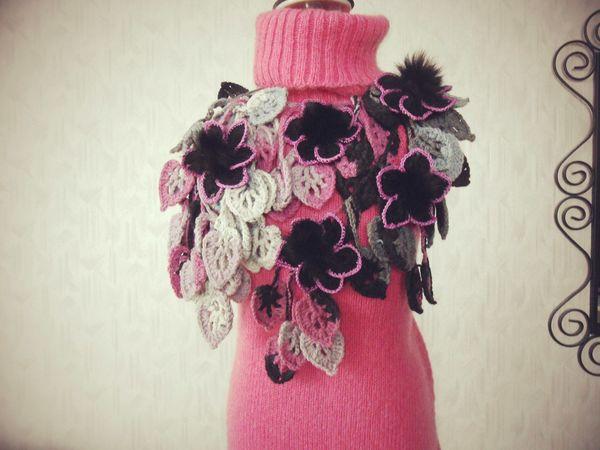 Оригинальные авторские шарфики с мехо и без!!!   Ярмарка Мастеров - ручная работа, handmade