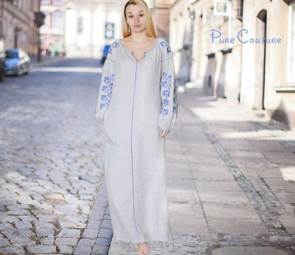 Льняные авторские платья