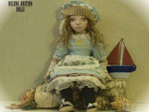 Презентация авторской интерьерной текстильной куклы Ассоль. Ярмарка Мастеров - ручная работа, handmade.