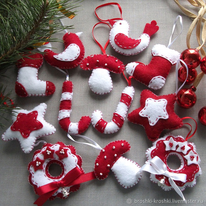 Текстильные новогодние игрушки своими руками выкройки фото 429