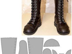 Несколько выкроек обуви для кукол   Ярмарка Мастеров - ручная работа, handmade