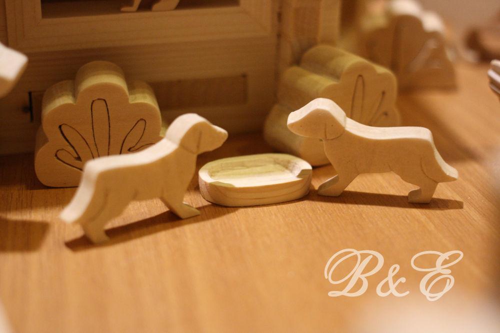деревянные игрушки, игрушки животные, собачка, для детей