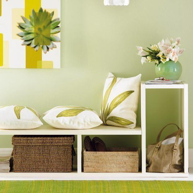зелёный цвет, мебель, декоративные подушки