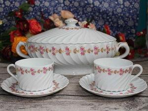 Лиможский фарфор Haviland: Супница  для второго и чайные пары. Ярмарка Мастеров - ручная работа, handmade.