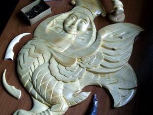 Создание резного панно для стандартной межкомнатной двери «Птица Сирин». Ярмарка Мастеров - ручная работа, handmade.