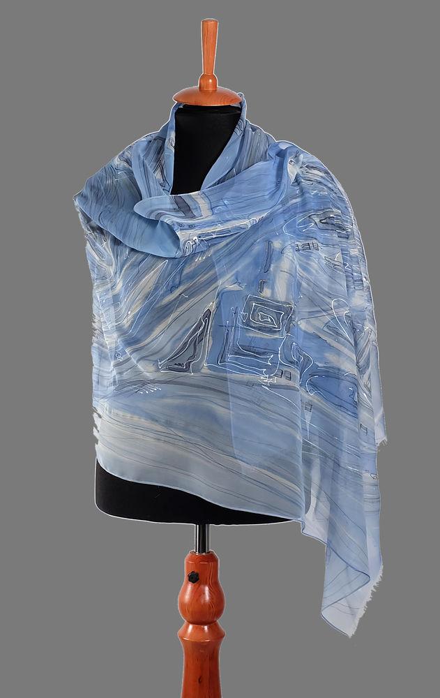 шарф ручной росписи