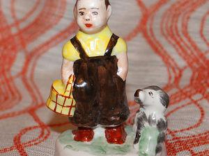 Мальчик с собакой. Артель Прогресс. Фарфоровая статуэтка. Ярмарка Мастеров - ручная работа, handmade.