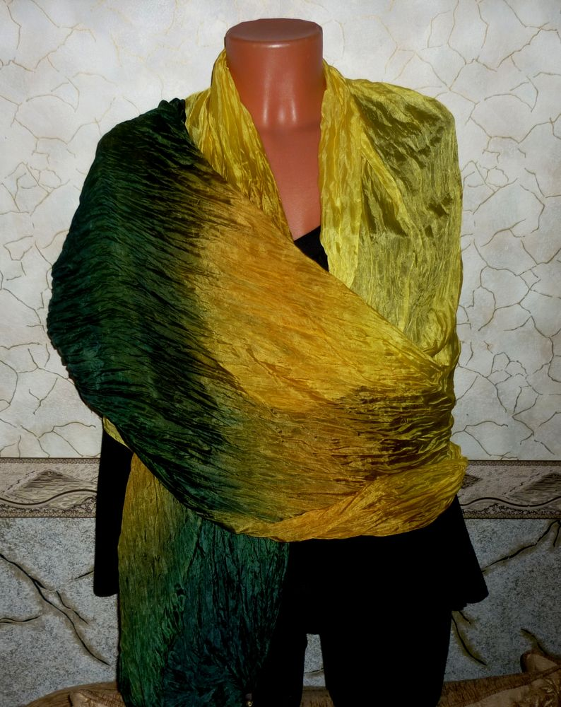 батик шарф шелковый
