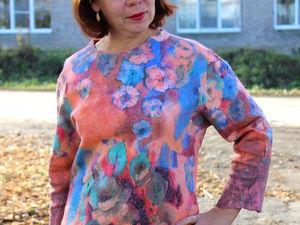 Новая Валяная блуза