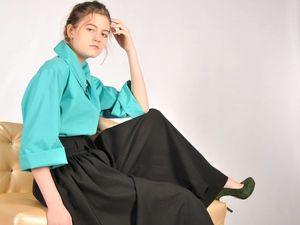 Юбка – брюки, как компромисс между женственностью.... Ярмарка Мастеров - ручная работа, handmade.