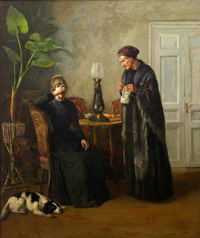 Когда есть чем заняться — стареть некогда: душевные картины о бабушках-рукодельницах, фото № 54