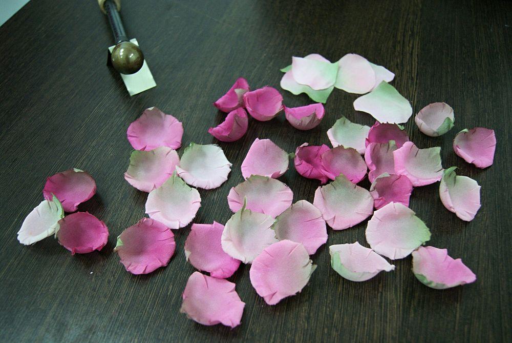 роза из шелка, цветы своими руками