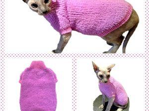 Спасибо за фото кошки в связанном мной свитере! | Ярмарка Мастеров - ручная работа, handmade